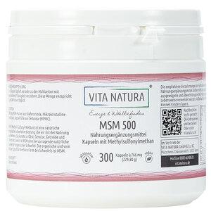 Vita Natura MSM Vegikapseln 500 mg 300 Stk.