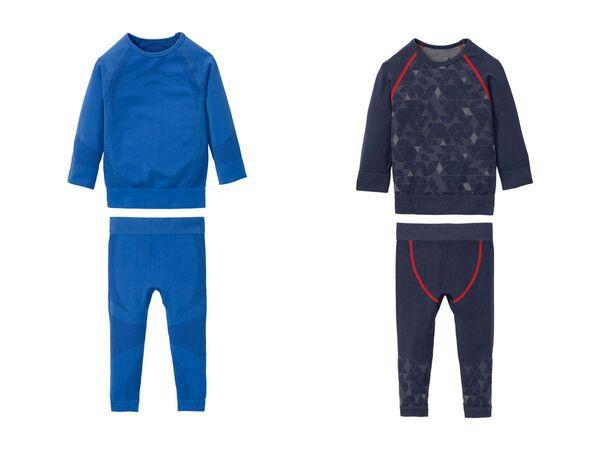 CRIVIT®PRO Kleinkinder Jungen Ski-Unterwäsche, 2-teilig