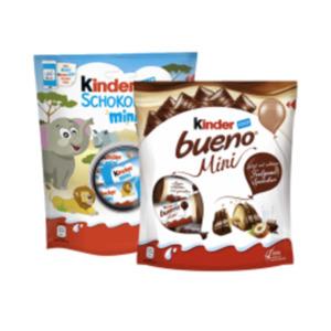 Kinder Schokolade Mini, Bueno Mini, Kinder Happy Hippo oder nutella B-ready 6er