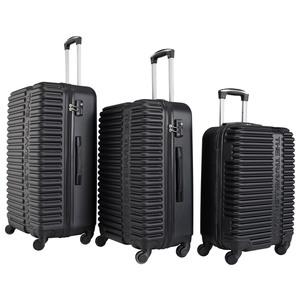 Kofferset Miami (3-teilig, schwarz)