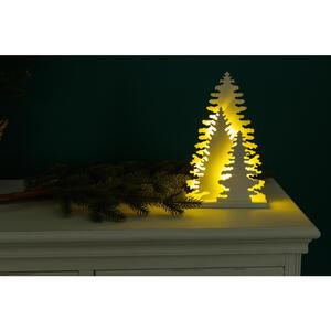 X-Mas Dekoweihnachtsbaum beleuchtet, Weiß
