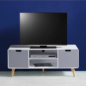 TV-Element in grau/weiß ''Daniela''