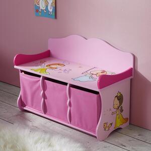 Kindersitzbank in Rosa mit Stauraum 'Alisa'
