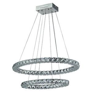 Tween Light LED-Pendelleuchte rund Crystal