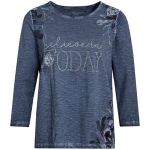 Damen Shirt mit Oil-Washed-Effekt