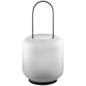 Große Glas-Laterne in ovaler Form