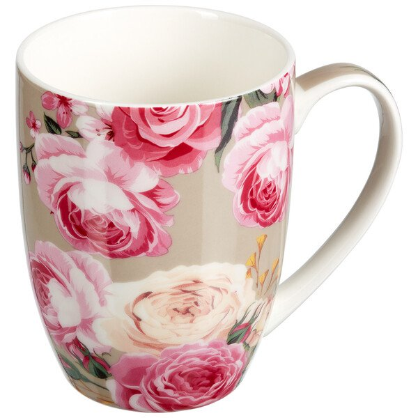 Tasse mit Rosen-Dessin