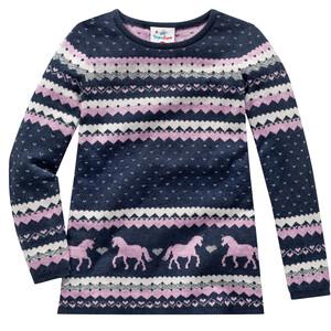 Mädchen Pullover mit Herzchen-Muster