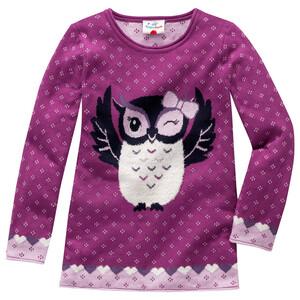 Mädchen Pullover mit Eulen-Motiv