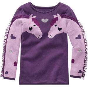 Mädchen Pullover mit Pferde-Motiven