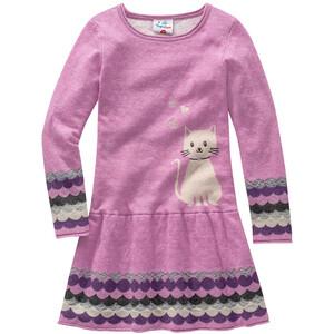 Mädchen Strickkleid mit Katzen-Motiv