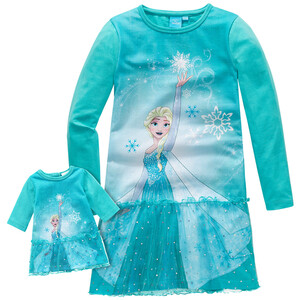 Die Eiskönigin Nachthemd mit Puppen-Nachthemd