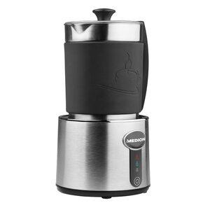 MEDION Milchaufschäumer MD 18286, Milch aufschäumen und erhitzen in Einem, bis zu 230 ml Fassungsvermögen, 550W Leistung