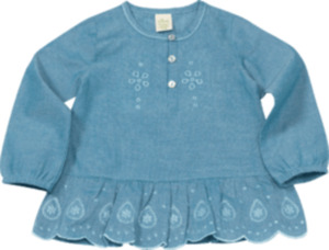 ALANA Kinder-Shirt, Gr. 92, in Bio-Baumwolle, blau