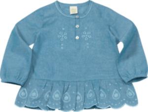 ALANA Kinder-Shirt, Gr. 98, in Bio-Baumwolle, blau