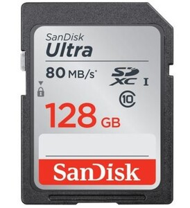 Sandisk Speicherkarte SDXC Ultra Class 10 (128 GB) ,