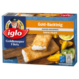 Iglo Goldknusper Filets Gold-Backteig