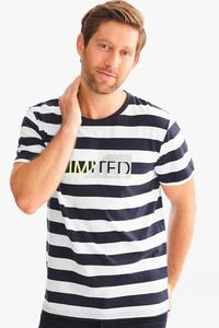 Angelo Litrico         T-Shirt - gestreift