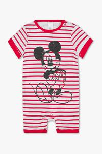 Micky Maus - Baby-Schlafanzug - Bio-Baumwolle - gestreift