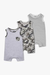 Baby Club         Baby-Schlafanzug - Bio-Baumwolle - 3er Pack