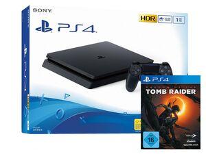 SONY Playstation 4 Slim - 1TB schwarz + Shadow of the Tomb Raider (PS4)