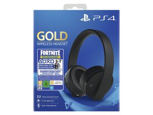 SONY PS4 Headset Wireless Gold Edition - Fortnite Bundle