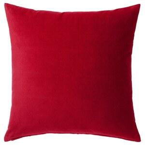 SANELA                                Kissenbezug, rot, 50x50 cm