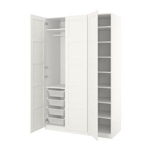 PAX                                Kleiderschrank, weiß, Bergsbo weiß, 150x60x236 cm