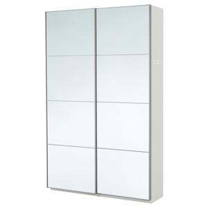 PAX                                Kleiderschrank, weiß, Auli Spiegelglas, 150x44x236 cm