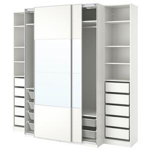 PAX                                Kleiderschrank, weiß, Mehamn Auli, 250x66x236 cm
