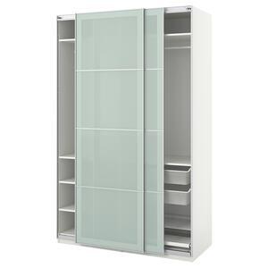 PAX                                Kleiderschrank, weiß, Sekken Frostglas, 150x66x236 cm