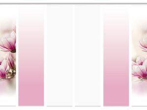 Home Wohnideen Schiebevorhang Magnene 3er-, 4er-, 5er- oder 6er-Set, 245 x 60 cm
