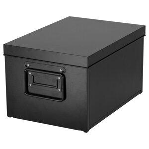 MANICK                                Box mit Deckel, schwarz, 25x35x20 cm