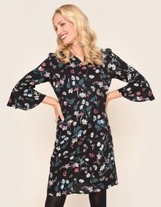 Bexleys woman - Kleid mit Blumendruck und Trompetenärmeln