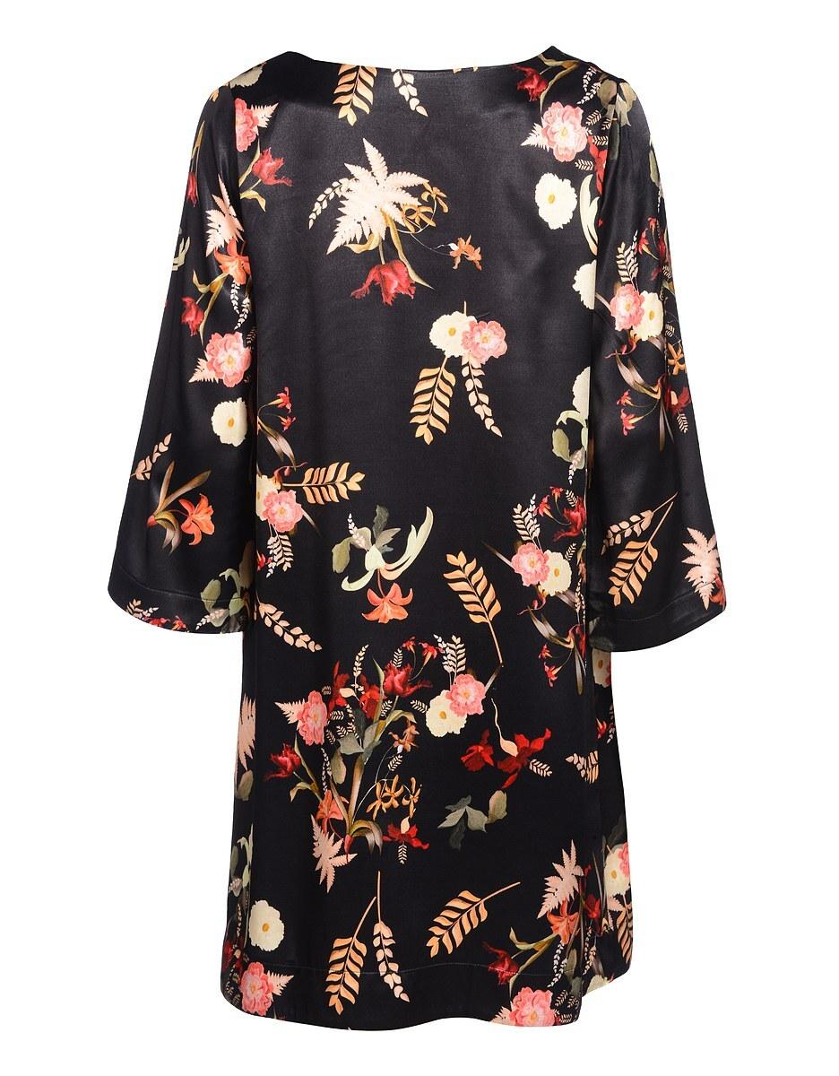 Bild 2 von Viventy - Kleid aus Viskose-Seiden-Mischung mit floralem Druck