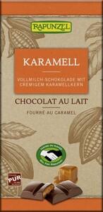 Rapunzel Bio Vollmilch Schokolade mit Karamellfüllung 100 g