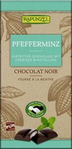 Rapunzel Bio Zartbitter Schokolade mit Pfefferminzfüllung 100 g