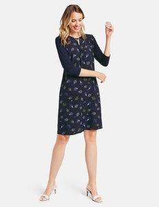 Kleid mit bedrucktem Vorderteil