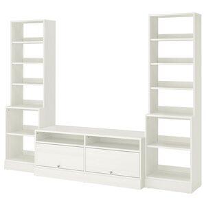 HAVSTA                                TV-Möbel, Kombination, weiß, 282x47x212 cm