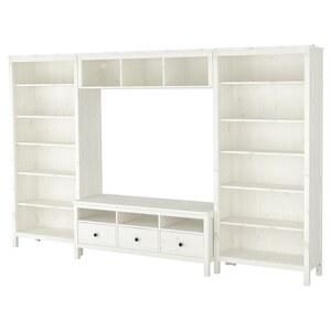 HEMNES                                TV-Möbel, Kombination, weiß gebeizt, 326x197 cm