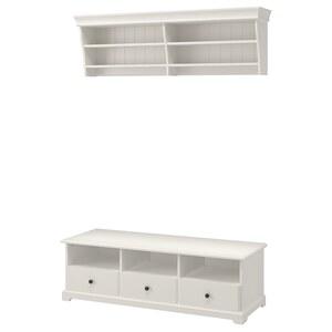 LIATORP                                TV-Möbel, Kombination, weiß, 145x49 cm