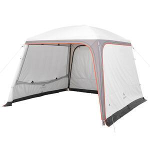 Pavillon Arpenaz 3 נ3 m mit Türen 10 Personen Camping LSF 50+ Fresh&Black weiß