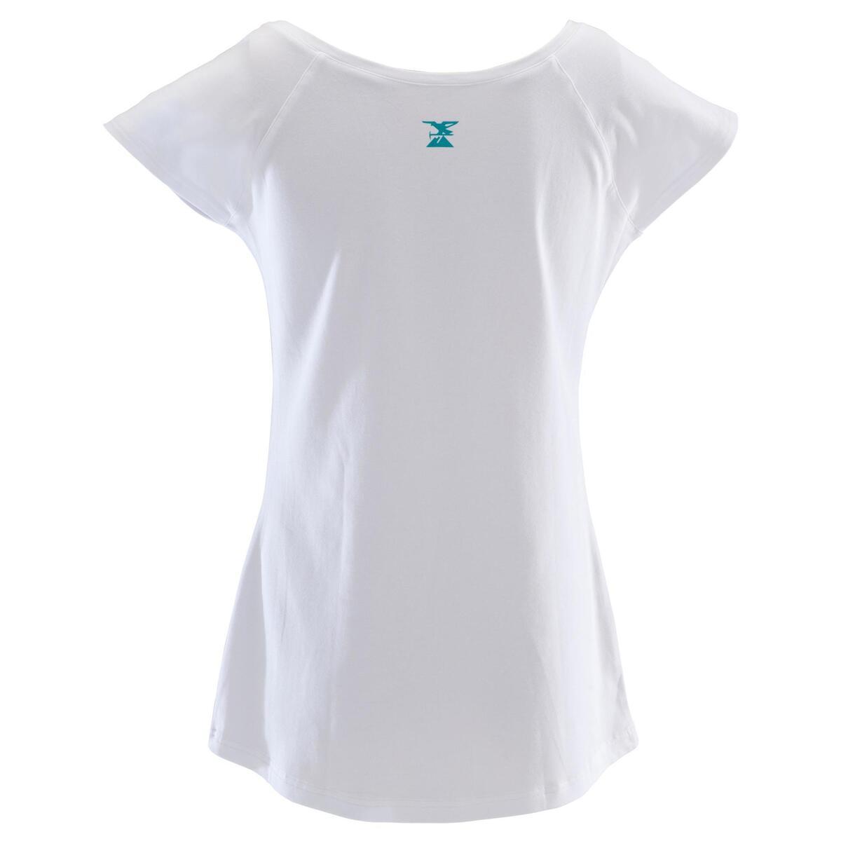 Bild 5 von Kletter-T-Shirt Kurzarm Damen weiß