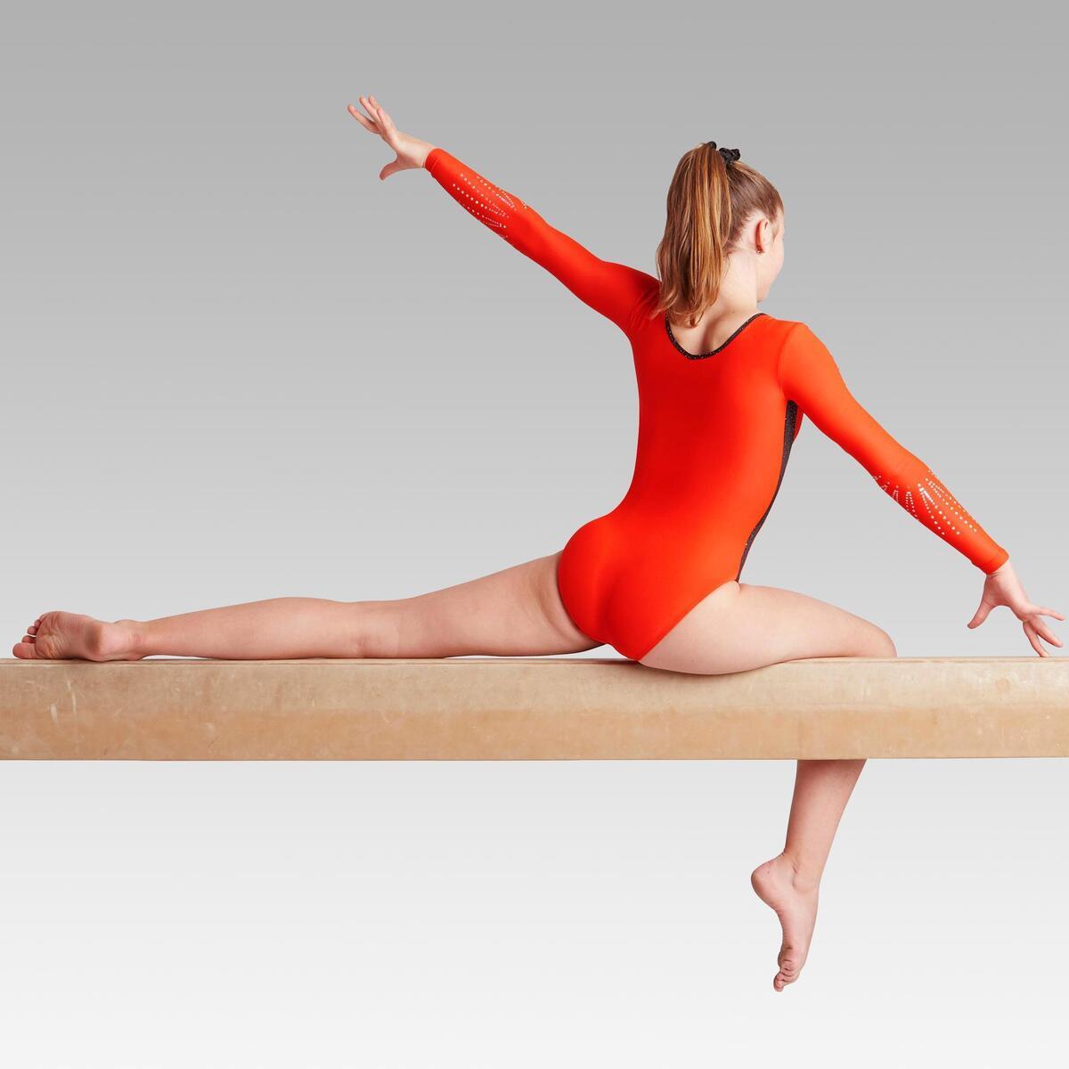 Bild 3 von Gymnastikanzug Turnanzug langarm 500 rot