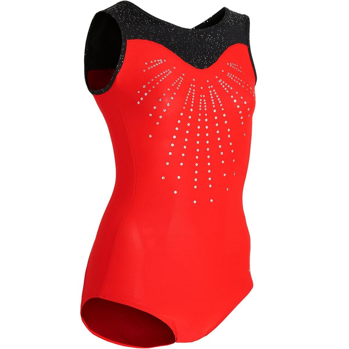 Bild 1 von Gymnastikanzug Turnanzug ärmellos 540 SM rot/schwarz