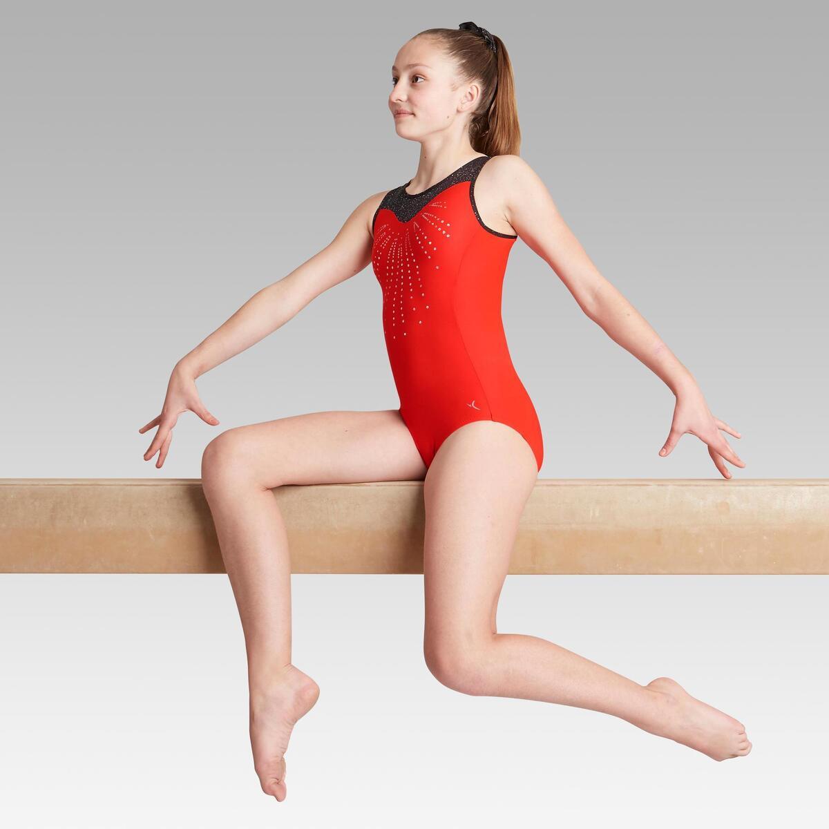 Bild 2 von Gymnastikanzug Turnanzug ärmellos 540 SM rot/schwarz