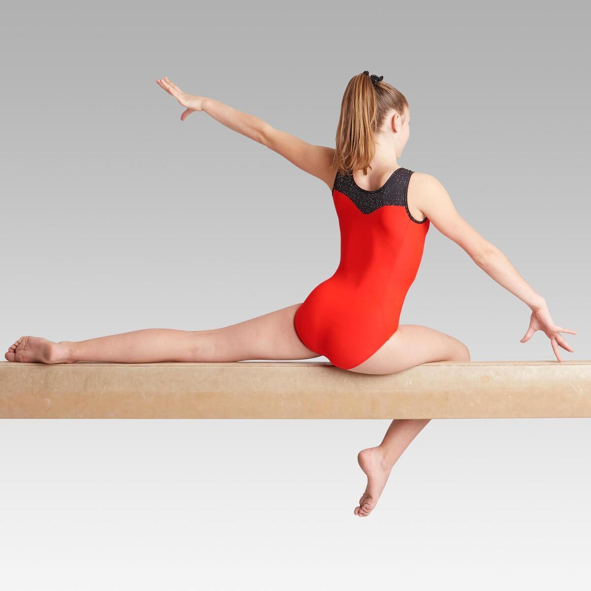 Bild 3 von Gymnastikanzug Turnanzug ärmellos 540 SM rot/schwarz