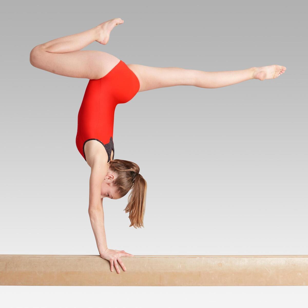 Bild 4 von Gymnastikanzug Turnanzug ärmellos 540 SM rot/schwarz