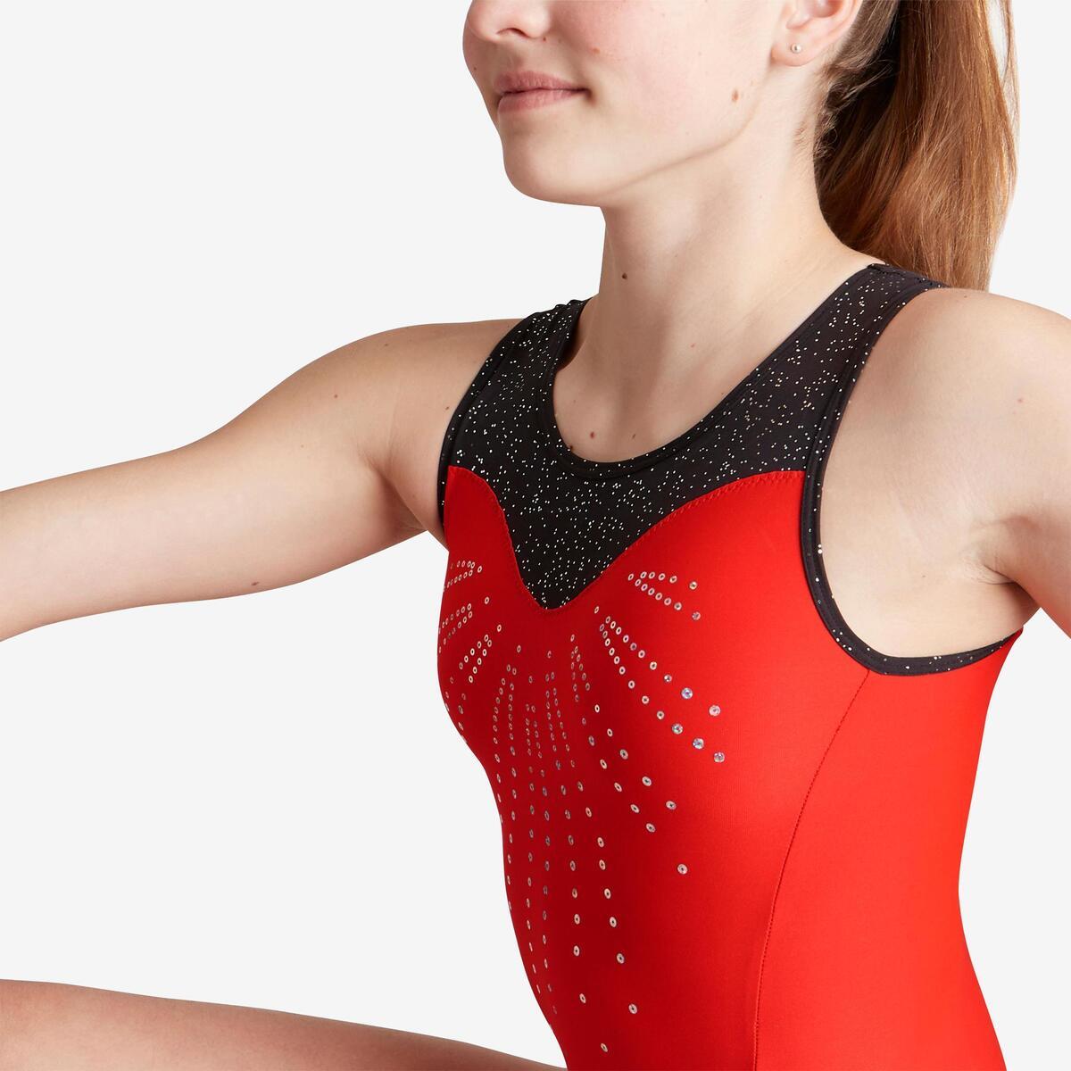 Bild 5 von Gymnastikanzug Turnanzug ärmellos 540 SM rot/schwarz