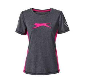 Damen-Fitness-T-Shirt mit Kontrastdruck